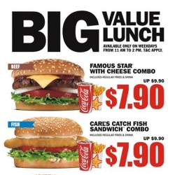 Carl's Jr. | BIG value lunch promotion