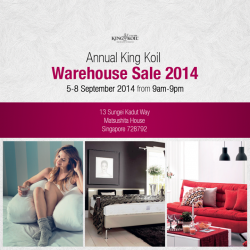King Koil | annual WAREHOUSE SALE 2014