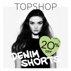 Topshop | 20% off all Denim Shorts