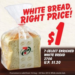 7-Eleven | Enriched white bread for just $1