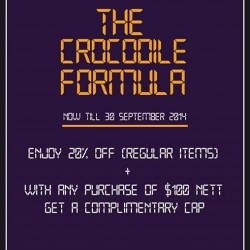 Crocodile | 20% off regular items promotion