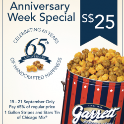 Garrett Popcorn Shops | Anniversary Stripes and Stars Tin @$25