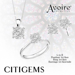CITIGEMS | 4 carat AVOIRE® diamond set @ $1388