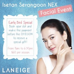LANEIGE | Facial Event with 4-piece gift & fully redeemable voucher