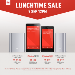 Xiaomi | lunch time sale on 9 Sep 2014