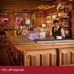 UOB | 15% off total bill at The Highlander Bar & Restaurant
