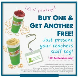 Boost | Buy 1 get 1 free when present your teachers staff tag