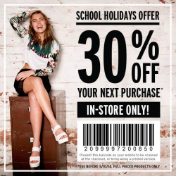Rubi | school holidays offer 30% OFF your next purchase