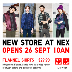 Uniqlo |  Nex opening special Flannel shirt at $29.9