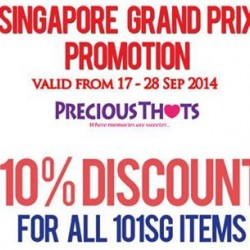 PreciousThots | 10% off for F1 tickets holders and members