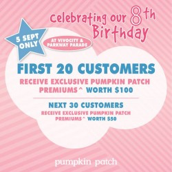 Pumpkin Patch | exclusive promotion and free gift
