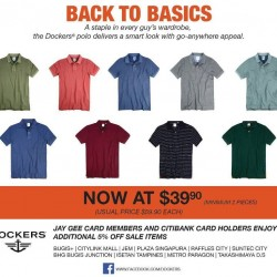 Dockers | Polo essentials at $39.9