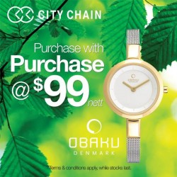 Jem | Obaku Timepiece Special at City Chain Primo