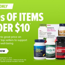 GNC USA | 100s of Items Under US$10 Sale Sept 2014