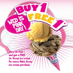 Baskin-Robbins | 1 for 1 Pink Wednesday Promotion