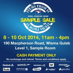 Royal Sporting House |  Sample Sale from S$5