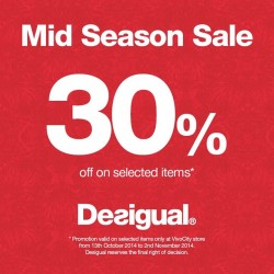 Desigual | 30% off Mid Season Sale