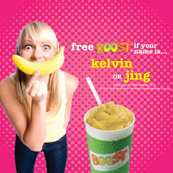 Boost Juice Bars | Free juice If your name is Kelvin or Jing