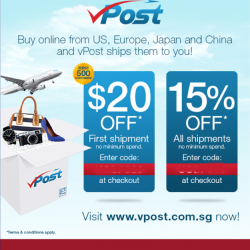 UOB | 15% off VPost coupon code