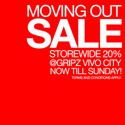 Gripz | 20% off store-wide Moving out sale