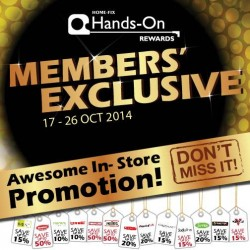 Home-Fix | Hands-On Rewards members exclusive promotion