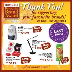 Home-Fix | October promotion with last days offers