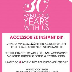 Accessorize | 30th Anniversary Promotion