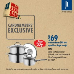 John Little | WMF Collier 3pc Cookware Set special buy @$69