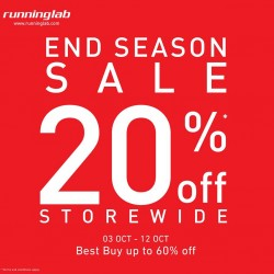 Running Lab |  20% OFF store wide promotion with special buys