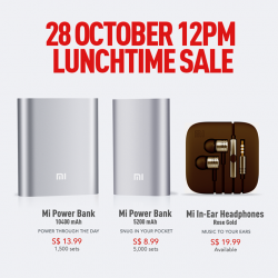 Mi Singapore | Mi Power Banks & Mi In-Ear Headphones Launch sale