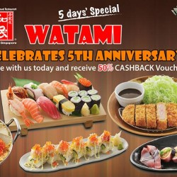 Watami Japanese Restaurant | 50% cash back for dine-in customers