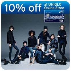 Citibank   10% off on Uniqlo online store