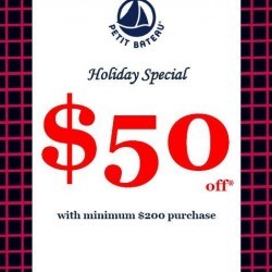 Petit Bateau | $50 off with every $200 purchase