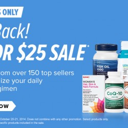 GNC USA | 3 for US$25 Promotion till 21 Oct 2014