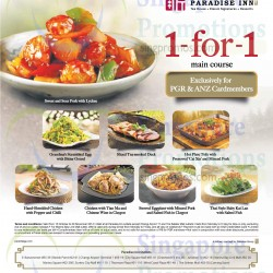 ANZ | 1 For 1 main course at paradise inn