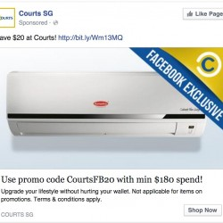 Courts Online   S$20 OFF Facebook Fan Coupon