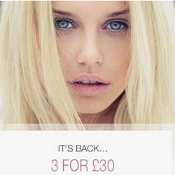 HQhair   3 FOR £30 Promotion