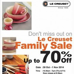 Le Creuset | Family Sale up to 70% off @ Suntec Convention