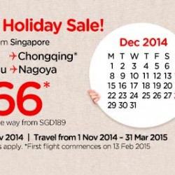 AirAsia | Year-End Holiday Sale from S$66