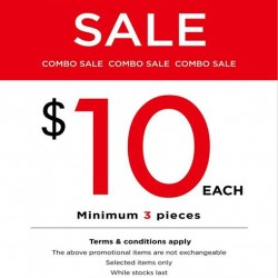 NET |  COMBO SALE 3 for $30 for $19.90 merchandise