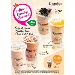 Sharetea | 1-for-1 promotion at Bugis Junction