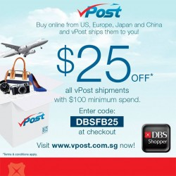 DBS | $25 off vPost with coupon code
