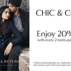 Banana Republic | Enjoy 20% off with 2 items purchase