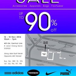 Up to 90% OFF branded sports wear warehouse sale