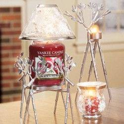 Yankee Candle | limited edition Silver Reindeer Jar Holders