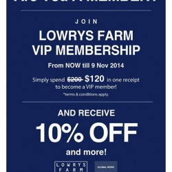 Lowrys Farm | Spend $120 to be a VIP member