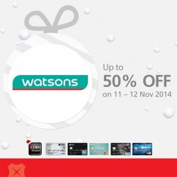 DBS | up to 50% off at the exclusive Watsons Sale
