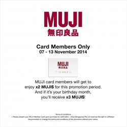 MUJI | Members Special 2X points sale