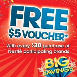 Nestle | Free $5 Vouchers with $30 spent
