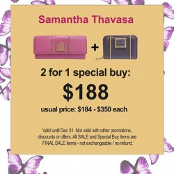 Samantha Thavasa | 2 items from Retro Collection for $188